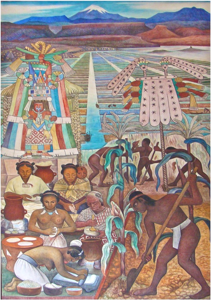 Diego Rivera-Civilisation-Huaxtèque-Palais National-4